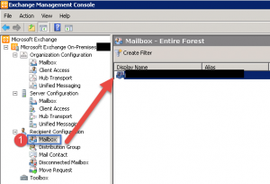 Untitled add an alias to a mailbox in exchange 2010 - Exchange management console ...
