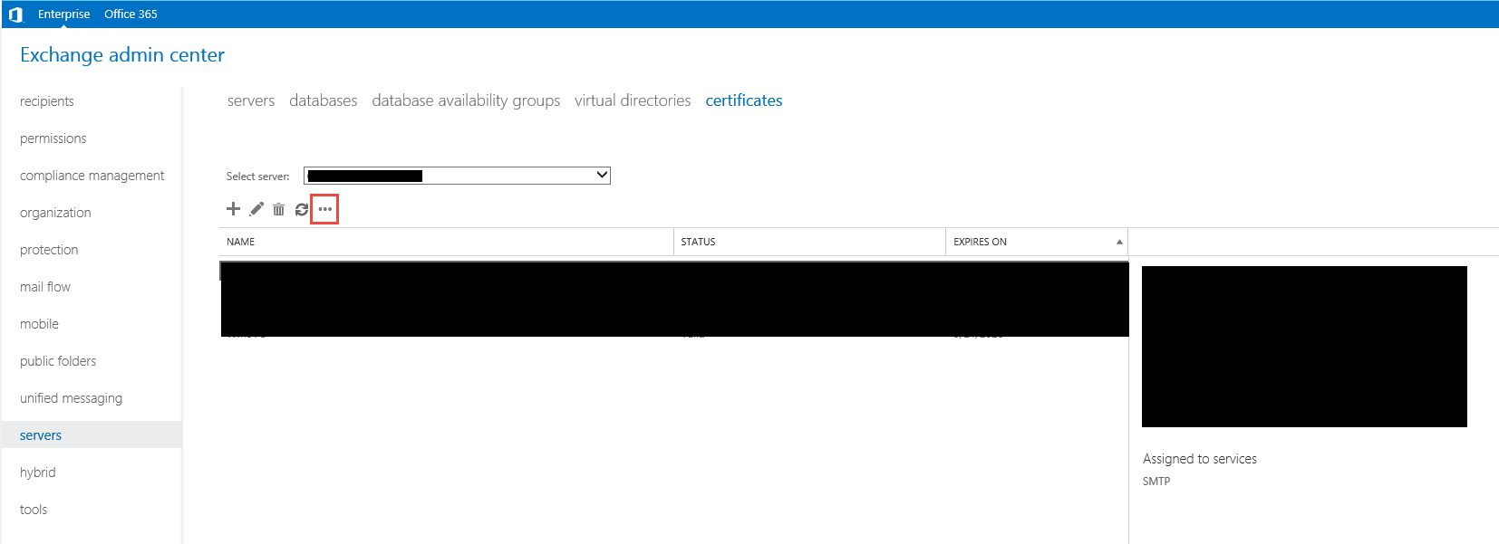 Exchange 2016 bulk import ssl certificate and assign services import certificate in the eac 1betcityfo Images
