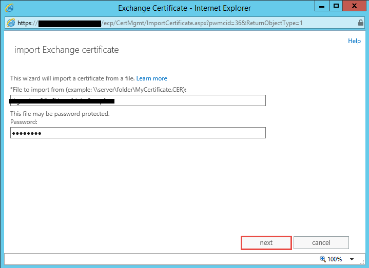 Exchange 2016 bulk import ssl certificate and assign for Window location assign